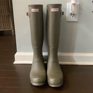 Olive Matt Green Hunter boots